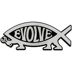 EvolveFISH Darwin Fish Bumper Sticker 5 x 3