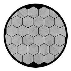 """2"""" hexagon White Cararra marble for shower floor in downstairs bathroom"""