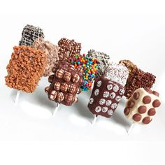 Choc Covered Rice Krispie Treats Sweets Foodie Golden Edibles picture