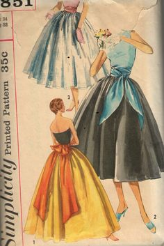 Vintage 1950s Simplicity Sewing Pattern by SewAddicted2SewMuch
