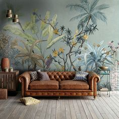 Wall Mural Ideas for Living Room . Wall Mural Ideas for Living Room . Polly Wallpaper by Tecnografica Italian Wallcoverings In Most Beautiful Wallpaper, Home Wallpaper, Wallpaper Jungle, Wallpaper For Living Room, Wallpaper Murals, Modern Wallpaper, Eclectic Wallpaper, Classic Wallpaper, Chinoiserie Wallpaper