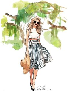 i love this skirt, its like a mix of classic and modern #FashionSketches