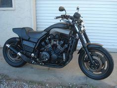 Custom 1988 Yamaha VMax Bare Bone Rides Stealth / Black-Ops Build (Walk-Around) Motorcycle Travel, Motorcycle Art, Ducati, Yamaha, Bare Bone, 1200 Custom, Motorised Bike, V Max, Cool Motorcycles