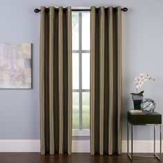 Curtainworks Malta Room Darkening Curtain, Brown