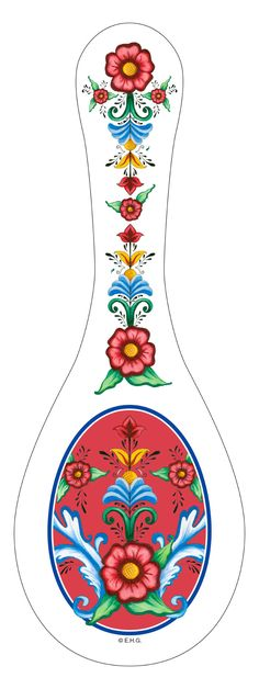 The perfect European gift to accent your kitchen. This ceramic spoon rest features an attractive and exclusive artwork of Rosemaling and Flowers. - The perfect European gift to accent your kitchen - S Pottery Painting, Tole Painting, Painted Pottery, Ceramic Painting, Norwegian Rosemaling, Bee Boxes, Ceramic Spoons, Cool Tattoos For Guys, Scandinavian Kitchen