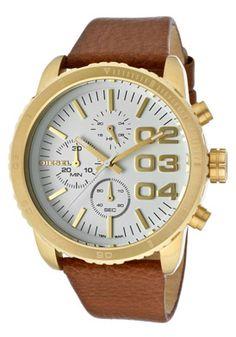 Diesel men's dz7269 XL SBA chronograph white dial watch ...