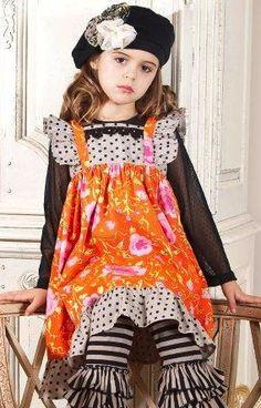 Mustard Pie ``Tangerine`` Black Holiday Holly Dress Sizes 4 - 12