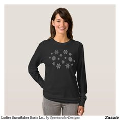 Ladies Snowflakes Basic Long Sleeve T-Shirt http://www.zazzle.com/ladies_snowflakes_basic_long_sleeve_t_shirt-235336697098902903?rf=238498825812378580