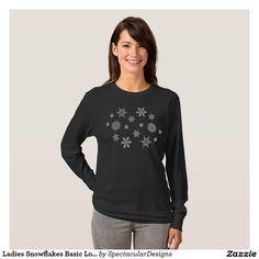 Ladies Snowflakes Basic Long Sleeve T-Shirt http://www.zazzle.com/ladies_snowflakes_basic_long_sleeve_t_shirt-235336697098902903?rf=238498825812378580