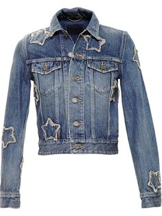 Saint Laurent star patch denim jacket