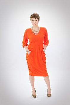 The Tia Dress is a trendy and modest knee length dress with longer sleeves and great pockets.  Modal, Cotton, Spandex blend. No zipper