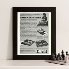 New to RetroPapers on Etsy: Chess Wall Art   Electronic Chess Game   Chafitz Computer Games   70s Retro Tech   Nerd Chess Master   Kids Game Advertisement   70s Toys Ad (6.99 USD)