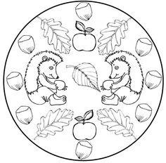 Autumn mandala coloring pages Mandala Coloring Pages, Free Coloring Pages, Coloring Sheets, Adult Coloring, Coloring Books, Autumn Activities For Kids, Fall Crafts For Kids, Autumn Crafts, Forest Animals