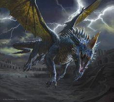 Dark Fantasy Art, Fantasy Artwork, Fantasy World, Dnd Dragons, Dungeons And Dragons, Fantasy Monster, Monster Art, Medieval, Mtg Art
