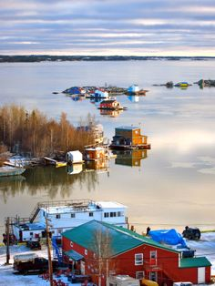 Yellowknife my home,  in our Old Town area on the Great Slave Lake - Photo by Mariko Ishikawa