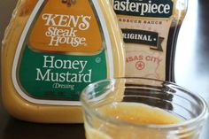 Copycat Chick Fil A Sauce Recipe 3Tbls Ken's Honey Mustard 1tsp KC Masterpiece BBQ sauce