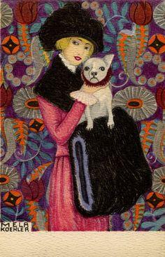 https://flic.kr/p/wnqPfU | Mela Koehler ... fine Art by Vienna Workshop | fine Art PostCard ... about 1911 ... Art Work of Leopoldina Melanie Koehler (born November 18, 1885 in Vienna, † December 15, 1960 in Stockholm), married. Broman was a painter, graphic artist, illustrator, Aquarellistin and was an employee of the Wiener Werkstätte