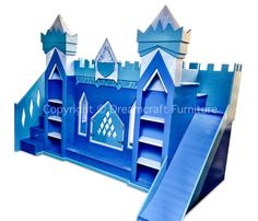Disney Frozen Themed Ice Palace Bunk Bed With Storage Steps And Slide. This is awesome! Bunk Beds With Storage, Kids Bunk Beds, Princess Castle Bed, Frozen Princess, Elsa Castle, Princess Bedrooms, Frozen Queen, Queen Elsa, Frozen Bedroom