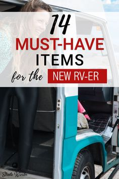 These are the 14 must-have items for the new RVer. These things don't come with your RV and yet you can't camp without them! Get yours before your first trip! #RVLiving #RVLivingFullTime #RVCamping