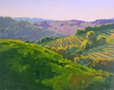 Ribbons of Light - Original Vineyard Painting - Art for Sale - Wine Country Art - Wall Art - Art for the Home - California Vineyard Painting - Sonoma Winery Art