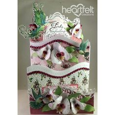 Heartfelt Creations - White Orchid Foldout Card Project