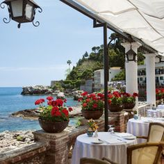 Villa Sant'Andrea - venue for Taormina, Sicily destination wedding right on the bay of Mazzaro. Orient-Express hotel