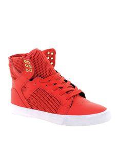 Supra Skytop Red High Top Sneakers