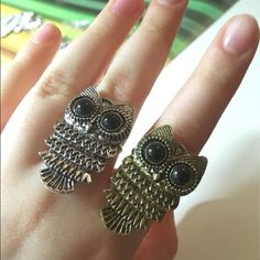 NWT Retro Freesize Owl Ring Another one for our ANIMAL LOVERSMade from Zinc Alloy, this cute owl ring fits all sizes. The surface width is 16mm. Only silver available just like the one in thw picture. Feel free to ask me any questions. 25 % off on 3+ bundles, save money on shipping fee. Thank you and namaste  Jewelry Rings