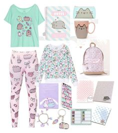 """""""#PVxPusheen"""" by aliyah-abalos ❤ liked on Polyvore featuring Pusheen, contestentry and PVxPusheen"""