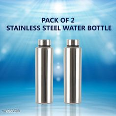 Water Bottles AKG Stainless Steel Fridge Water Bottle Material: Stainless Steel Pack: Pack of 2 Size (in ltrs): 975 ml Size: Free Size Country of Origin: India Sizes Available: Free Size   Catalog Rating: ★4.1 (1639)  Catalog Name: AKG Stainless Steel Fridge Water Bottle CatalogID_1111603 C130-SC1644 Code: 304-6960589-549