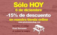Sólo hoy descuento del 15% en la tienda online