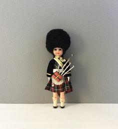 Vintage Scottish Bagpiper Tartan Kilt Doll Scot Boy Ethnic International Wedding Cake Topper by injoytreasures on Etsy