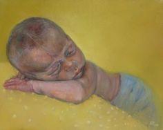 Barbara Porczynska, Leon, olej na płótnie 40x50 cm 2016