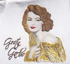 GRETA GARBO T-shirt The Divine Painted Timeless beauty Retro T shirt