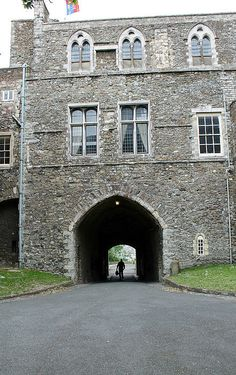 Inside Dover Castle, on the South Coast of England, the size and strength of the Castle Keep is impressive.  The Stronghold shows its power in the stone work and the depth of this arched walkway, and is brought into perspective by the silhouette of a lone man, walking.