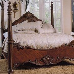 four poster bedroom sets | ... Woodcrafters Heirloom Distressed Four Poster Bedroom Collection