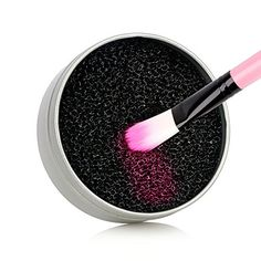 DEAR Color Removal Sponge - Dry Makeup Brush Quick Cleaner Sponge - Removes Shadow Color from Your Brush without Water or Chemical Solutions - Compact Size for Travel - Skincare Makeup Remover, Makeup Brushes, Best Charcoal, How To Remove, How To Apply, Blush Brush, Live Casino, Just Run, Brush Cleaner