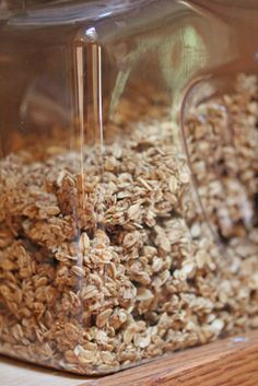 Naturally Sweetened Granola. Serve with milk or yogurt & fresh fruit. #homemade #sugarfree