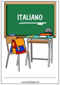 Copertina per il quaderno di italiano  - TuttoDisegni.com