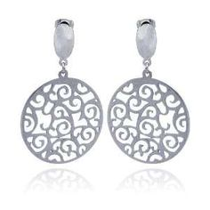 Filigree Fan Dangle Earrings Tarnish Free Sterling Silver on PopScreen