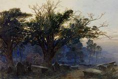 George Sheffield 'Churchyard at Bettws-y-Coed', 1865