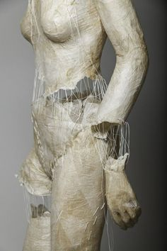 portfolio for visual artist working with themes of identity, femininity, fragmentation and clothing Human Sculpture, Paper Mache Sculpture, Soft Sculpture, Sculpture Ideas, Surrealism Sculpture, Paper Sculptures, A Level Art, Paperclay, Ap Art