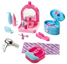 2011 Barbie Spa Day and Doll Gift Set - Nail Polish Make Up Foot Spa Scissors Jewelry Box Hair Dryer Toiletries Source by Joettesanchez. New Barbie Dolls, Barbie Sets, Doll Clothes Barbie, Barbie Doll House, Barbie Dream House, Barbie Stuff, Spa Day Gifts, Barbie Camper, Accessoires Barbie