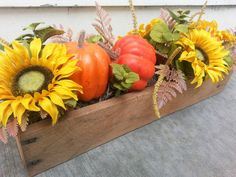 Check out this item in my Etsy shop https://www.etsy.com/listing/479750337/sunflowers-and-pumpkins-in-long-wooden