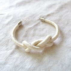 bridesmaids gifts. Love knot bracelet.