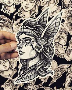 18 Tattoos Design for Women - Tattoo Designs Warrior Tattoos, Viking Tattoos, Leg Tattoos, Unique Tattoo Designs, Tattoo Designs For Women, Tattoos For Women, Design Tattoos, Tattoo Sketches, Tattoo Drawings
