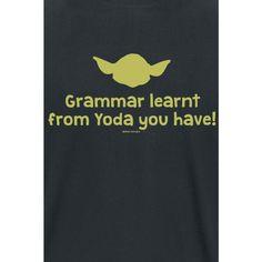 Grammar Learnt From Yoda You Have! T-paita musta • EMP.fi