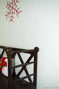 DIY - Floco de Neve feito com palitos de sorvete   Especial de Natal 2015 - Casinha Arrumada