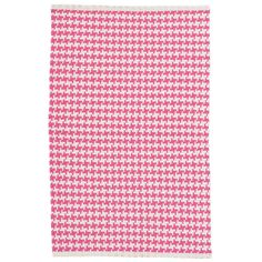 Test drive this rug in your space.Order a swatch by adding it to your cart.Want vibrant color and a soft feel for your floors? Get both with this patterned woven cotton rug in a refreshing fuchsia and ivory color combo!