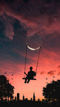 Swinging in the moon🌙